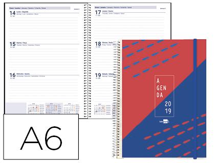 Agenda 2019 de bolsillo Semana Vista Tinos 105x148 mm