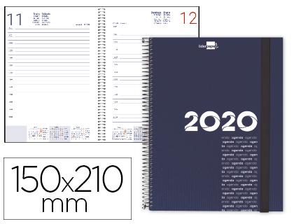 Agenda 2020 espiral A-5 día página azul
