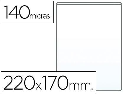 Fundas portadocumentos CUARTO en PVC 140 micras (170 x 220mm) 100 unds