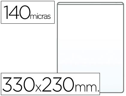 Fundas portadocumentos en PVC 140 micras folio (230 x 330mm) 100 unds