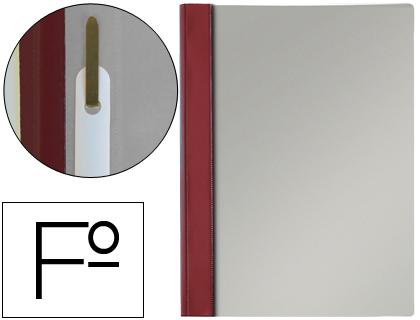 Dossier de presentación con fástener tamaño folio burdeos