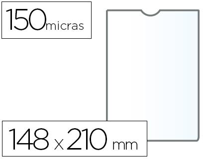 Fundas portadocumentos A5 en PVC 150 micras 25 unds