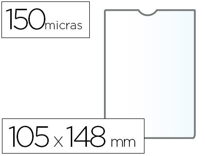 Fundas portadocumentos A-6 en PVC 150 micras 25 unds