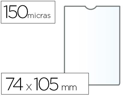 Fundas portadocumentos A-7 en PVC 150 micras 25 unds