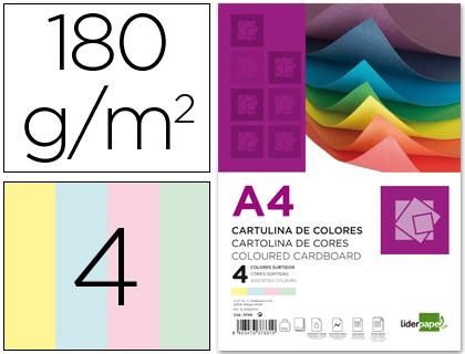 Cartulina A-4 colores surtidos (Paquete 100 unds)