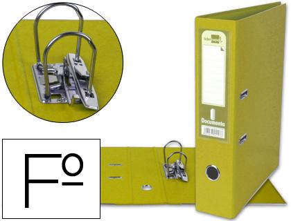 archivador de palanca amarillo