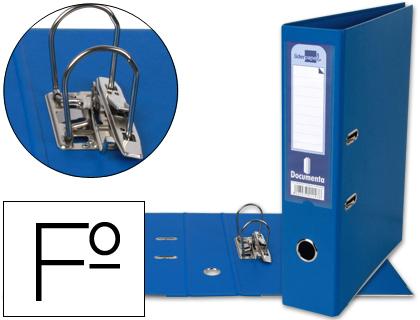 archivador de palanca azul