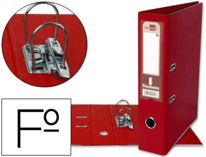 archivador de palanca rojo