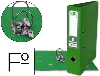 archivador de palanca verde