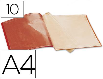 carpeta de 10 fundas roja