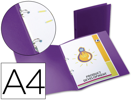carpeta 2 anillas polipropileno din a4 violeta