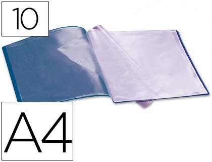 carpeta de 10 fundas azul