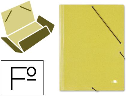 folio 3 solapas carton simil prespan amarilla