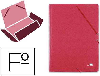 gomas folio 3 solapas carton simil prespan roja
