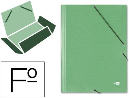 gomas folio 3 solapas carton simil prespan verde