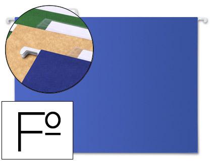 carpetas colgantes folio azules