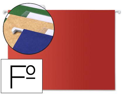 carpetas colgantes folio rojas