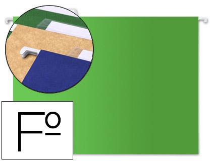 carpetas colgantes folio verdes