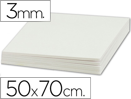 Cartón pluma blanco 3 mm 50x70