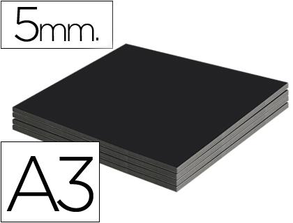 Cartón pluma negro 5 mm 42 x 29 cm