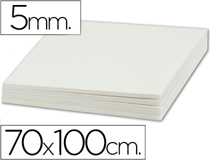 Cartón pluma blanco 5 mm 100x70