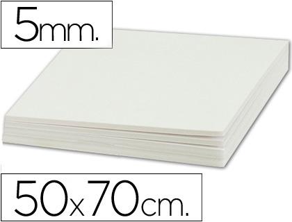 Cartón pluma blanco 5 mm 50x70