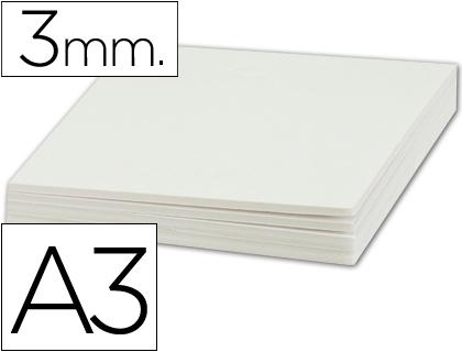 Cartón pluma blanco 3 mm tamaño 42 x 29 cm