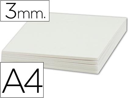 Cartón pluma blanco 3 mm 21 x 29 cm