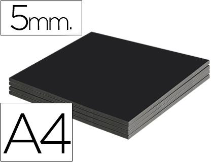 Cartón pluma negro 5 mm 21 x 29 cm