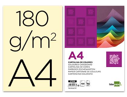 Cartulina A-4 crema (Paquete 100 unds)