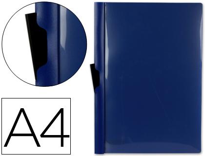 Dossier con pinza lateral para 30 hojas A-4 color azul