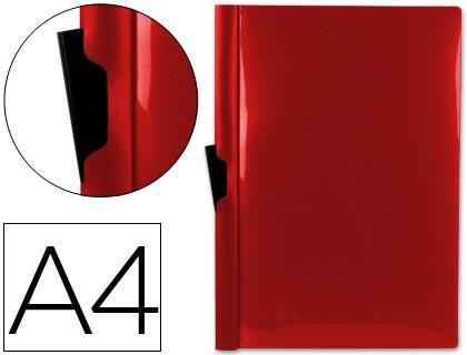 Dossier con pinza lateral para 30 hojas A-4 color rojo