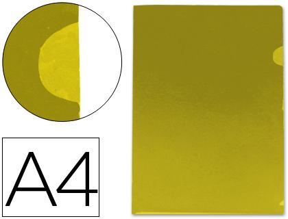 Dossier con uñero tamaño Din A4 amarillo translúcido