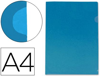 Dossier con uñero tamaño Din A4 azul translúcido