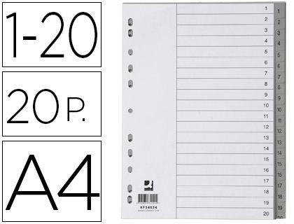 separadores numéricos de archivador