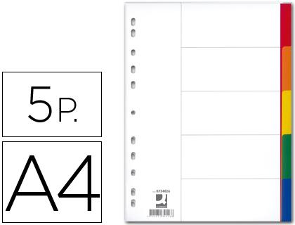 5 separadores din a4 -multitaladro