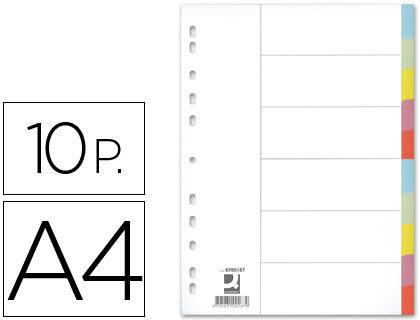 separadores de cartulina 10 posiciones