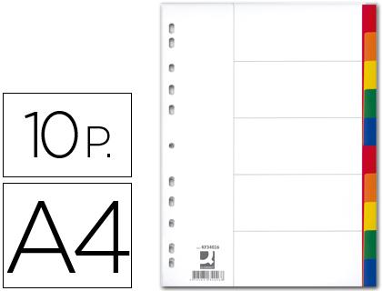 juego de 10 separadores din a4-multitaladro