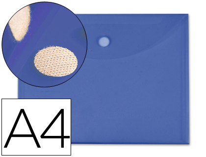 a4 cierre de velcro azul