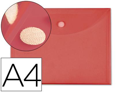 a4 cierre de velcro roja