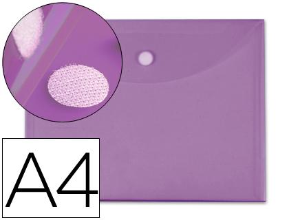 a4 cierre de velcro violet