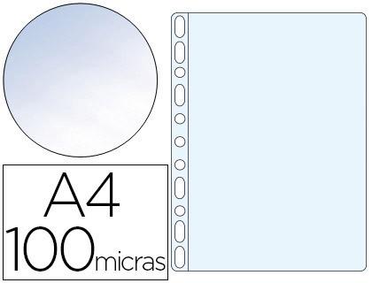 Fundas multitaladro transparente CRISTAL 100 micras A4 (100 unds)