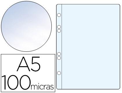 Fundas multitaladro A5 transparente CRISTAL 100 micras
