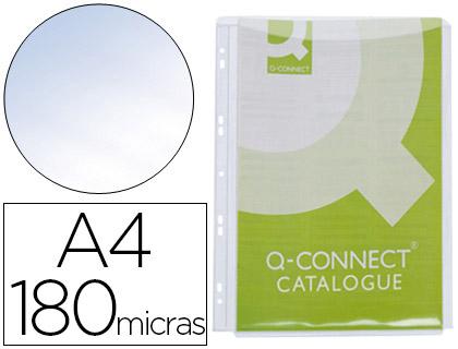 Fundas multitaladro con fuelle transparente cristal A-4