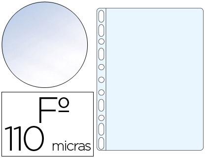 Fundas multitaladro transparente CRISTAL 110 micras folio (100 unds)