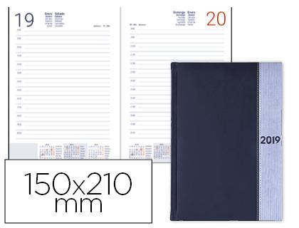 Agenda 2019 día página A-5 símil piel Azul Chatzi
