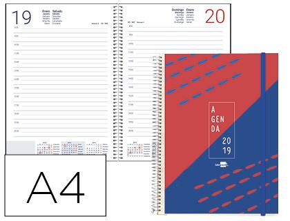 Agenda 2019 día pagina A-4 espiral tinos PERSONALIZABLE
