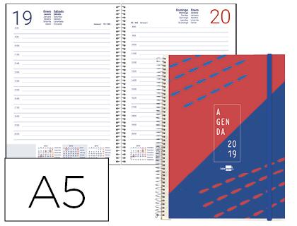 Agenda 2019 día pagina A-5 espiral tinos PERSONALIZABLE