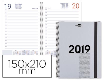 Agenda 2019 espiral día página A5 gris metalizado Olbia