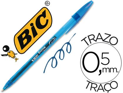 Boligrafo bic cristal gel azul